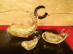ガラス製置飾り   『金鯉』