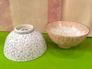 京焼  『桜詰  飯碗』