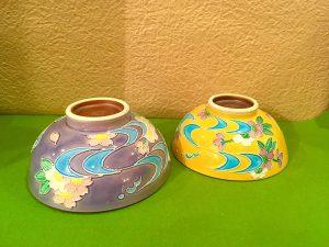 京焼  『流れ桜  組み茶碗』