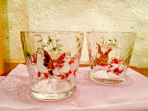 京の色絵ガラス  『戯画金魚 フリーカップ』