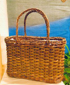山葡萄とあけび蔓の籠バッグ