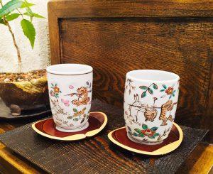 湯呑み茶碗『鳥獣戯画』