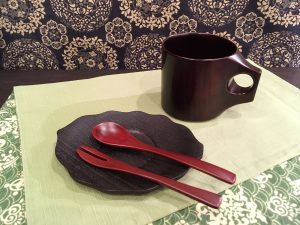 漆器  『マグカップ / 山ぶどう茶托 / あかね塗  スプーン・フォーク』