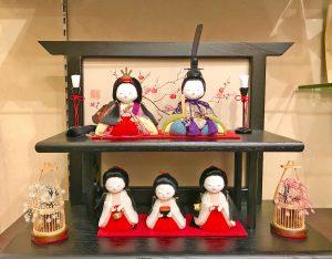 木目込み雛人形 『天弓五人飾り』