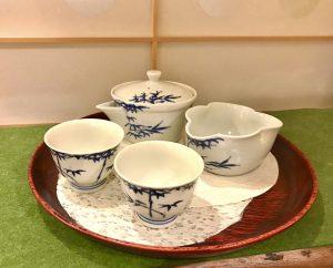 染付け竹林煎茶器
