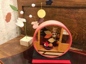 ちりめん  置飾り『京の町屋』