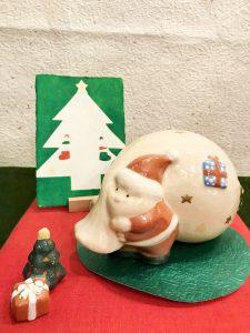 京焼き置物 『サンタクロース』
