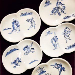 『高山寺』まゆ型銘々皿