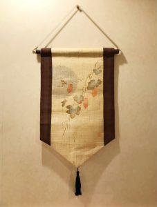 房飾りミニタペストリー『烏瓜』